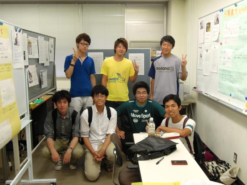 前日の準備に参加してくれた数理科学コース1年生有志のみなさん