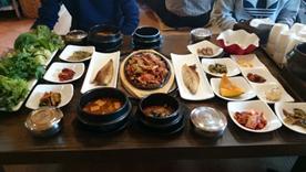 昼食・豚肉とイカのプルコギ