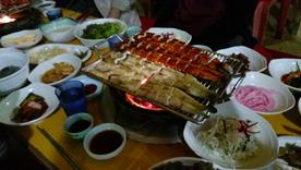 夕食・ウナギ料理